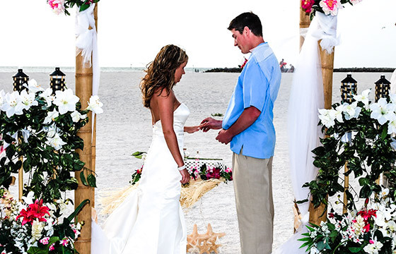 Picture Of Tropical Dreams Beach Wedding In Florida