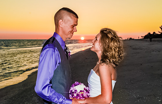 Picture Of Ocean Waves Beach Wedding In Florida