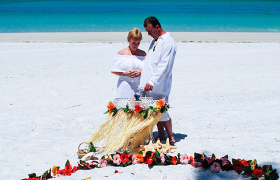 Picture Of Sand And Sea Beach Wedding In Florida